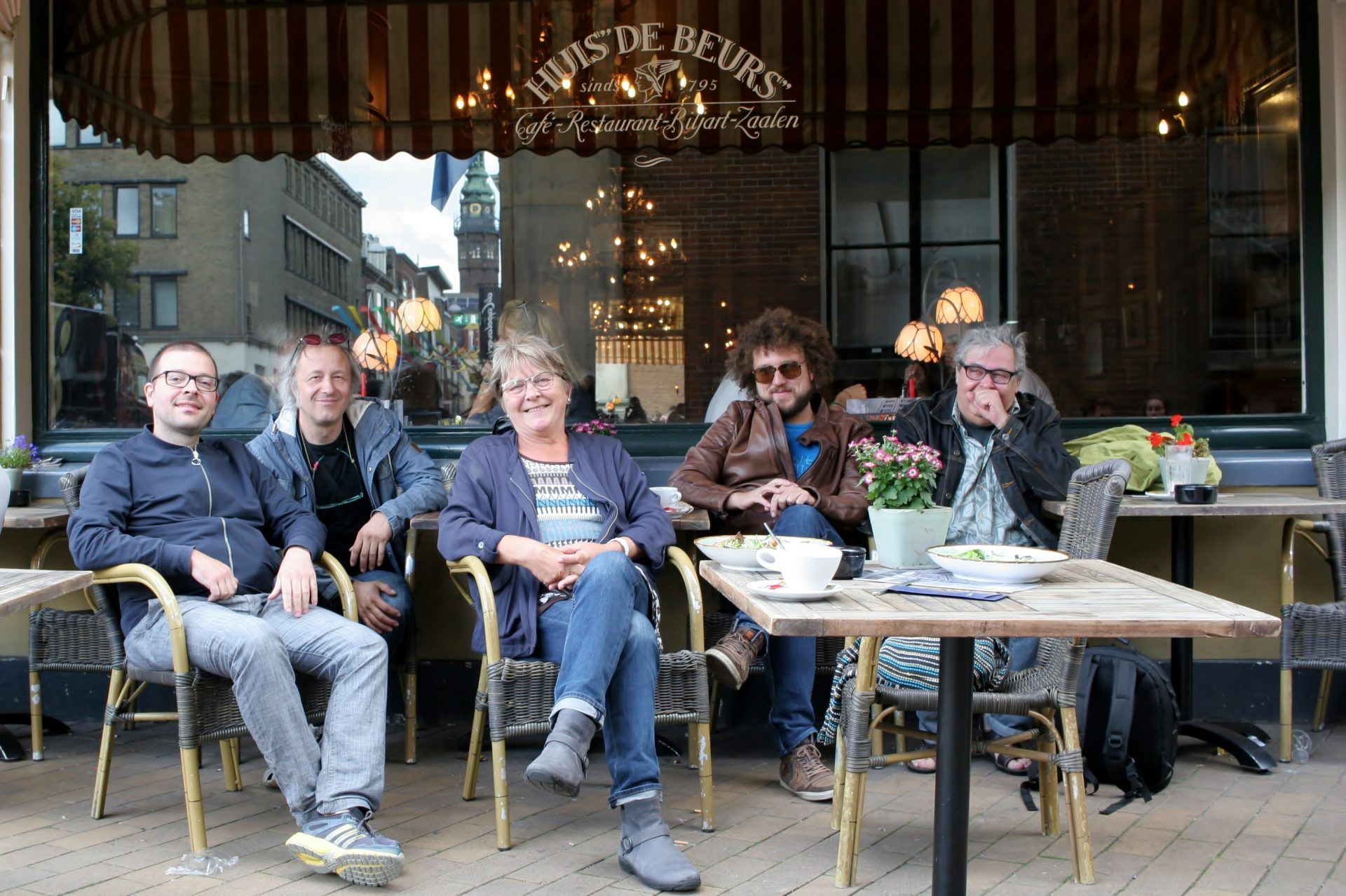 Z desne proti levi: organizator Marcel Roelofs, Janez Dovč, organizatorka Evelien Brak, Nino Mureškič in Goran Krmac. Foto: Dejan Pušenjak